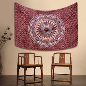 Mandala Tapestry Indian Wall Hanging Decor Bohemian Hippie Queen Bedsprea