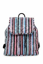 LeSportsac Signature Beverly Backpack, Watercolor Stripe Quilted, One Size