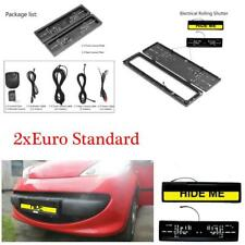 Euro Hide Device Stealth Shutter License Plate Car Number Roller Protect Cover