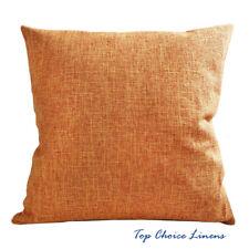 45cm x 45cm Home Decorative Solid Color Linen Look Cushion Cover-Orange