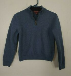 Brooks Brothers size medium youth / boys wool sweater w/ collar & 1/4 zipper