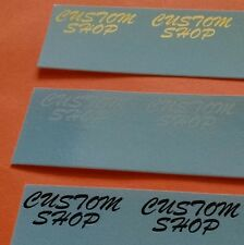 2  Custom Shop for Charvel guitar neck decals choose Black White or Gold