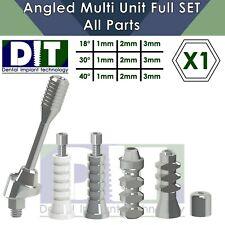 1 X Dental Full Set Angled Multi Unit All Parts Regular Platform Top Quality