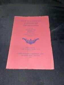 Louis XV & XVI Furniture + 1954 Parke-Bernet Auction Catalog ~ Chateau de Yerres