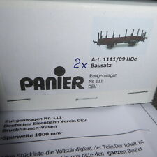 Panier 1111/09 H0e Bausatz 2 Stück Rungenwagen des DEV Bruchhausen-Vilsen in OVP