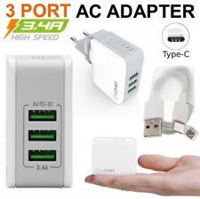 3-Port USB Chargeur Secteur Adaptateur + USB-C Cable pour Lenovo ZUK Edge