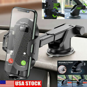Car Mobile Cell Phone Holder Windshield Dashboard Mount 360 iPhone Samsung GPS