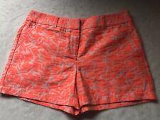 "Ann Taylor Loft Neon Size 4 Orange Shorts NWT 4"" short Print"