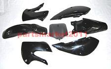 Black Plastics Fairings Body For Kawasaki KLX110 KX65 DRZ110 Pit Dirt Bike 02-08