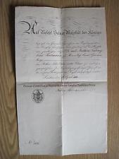 Preussen Urkunde Roter Adler Orden IIII.Klasse     original!!!!!!
