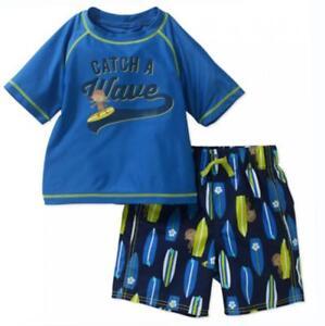 Child of Mine by Carter's Toddler Boys Two-Piece Rashguard Swim Set Size 5T