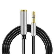 Audio Stereo Kopfhörer Verlängerungskabel 1m 3,5mm Klinke Stecker > Buchse Silbe