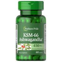 KSM-66 Ashwagandha 450mg 900mg per 2 Caps - 60 Caps (Withania Somnifera)
