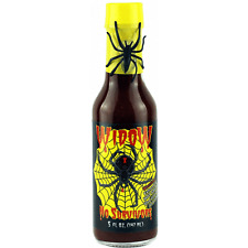Widow No Survivors Hot Sauce 5oz. Unique, extra hot sauce w/great flavor.