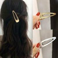 1PC Solid Color Hairpins Metal Retro Clip Girls Hairgrip Hair Clip Barrette Side