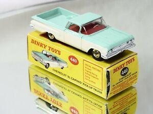 Dinky Toys GB n° 449 Chevrolet El Camino Pick-up Truck en boîte 1/43