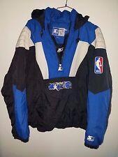 Rare Vintage 90s NBA Orlando Magic 1/2 Zip Starter Jacket Mens M Shaq Penny