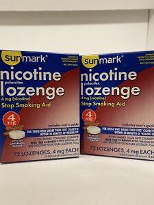 SunMark Nicotine Lozenge 4 mg Cinnamon Flavor, Lozenges, 144-Count EXP 11/2021