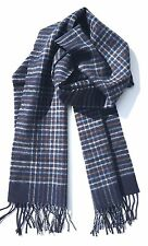 CHELSEY II 100% WOOL  SCARF Unisex Gray, Blue Strips Made In Germany NWT