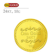 Om Gold ecoins 10 gm 24k(995) Purity Gold Coin - WITH TAX INVOICE