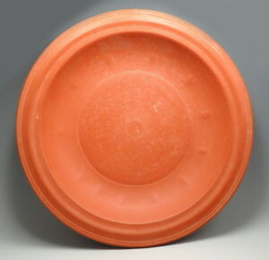 SUPERB ROMAN NORTH AFRICAN DIMPLED RED WARE DISH (L911)