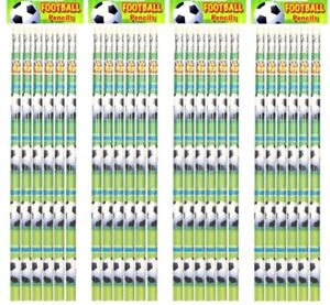 Football Pencils with Eraser Tip Great Party Bag Filler for Boys Girls