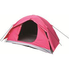 Highlander Birch 2 Personne Dome Tente Facile Terrain Camping Festivals Rouge