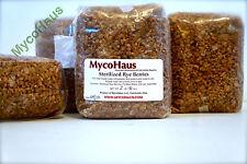 24 lbs, 12 pack sterilized rye grain berries substrate mushroom spawn grow bags