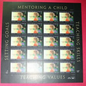 3556   US ...Mentoring a Child.. .Never Hinged Sheet issued year 2002