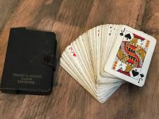Vintage Penney & Burton Yarns Leicester Playing Cards in Leather Book Type Case