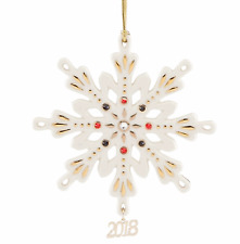 Lenox 2018 Annual Gemmed Snowflake Ornament