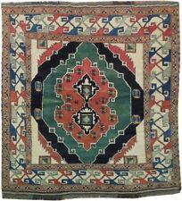 Tribal Design Kazak Soft Wool Hand-Knotted Rug 5' x 5' SQUARE