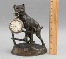 Antique C Valton, American Pitbull Terrier Dog Bronzed Spelter Watch Holder Nr