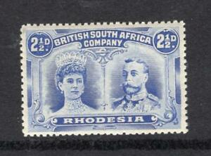 Rhodesia 1910 2½d Mary & George - Nice Example - OG MH - SC# 104    No Reserve!