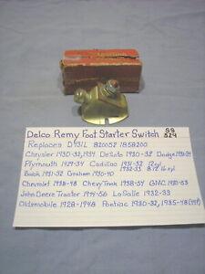 1928 - 1956 Delco Remy Style Foot Starter Switch Mopar GM LaSalle Graham Deere