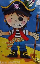 "Pirate Boy Table Cover, Birthday Party Table Cloth ~ 54"" x 108"" ~ Treasure Map"