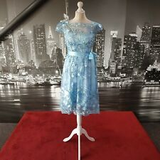 Sequin Dress (Powder Blue-Size 8) Prom, Cruise, Ball, Cocktail, Races,