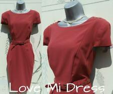 Marks & Spencer - Gorgeous Fitted Rust Dress Sz 16 EU44