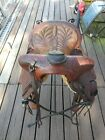 """Saddle  N. Porter HAND CRAFTED  15"""" Seat,VINTAGE EARLY 1900""""s  #25466"""