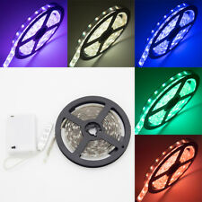 2m Waterproof 5050 RGB Multicolor LED Flexible Light Strip Battery Powered for C