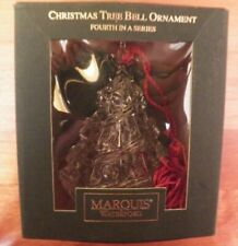 Marquis Waterford Christmas Holiday Tree Bell Ornament 4th in Series