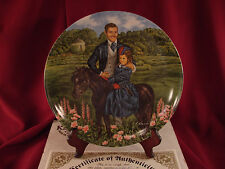 """BONNIE AND RHETT"" Gone with the Wind Knowles Collector's Plate BOX & COA #K8_2"