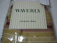 Waverly Madeleine Rodeo Drive - Garnet Euro European Pillow Sham 26x26 Gold Red