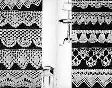 TAT Crochet KNIT Patterns 100 EDGINGS FILET LACE ALTER CLOTHS