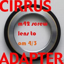 Pentax M42 lens adapter 4/3 Olympus E-3 E-5 E-600 E-620
