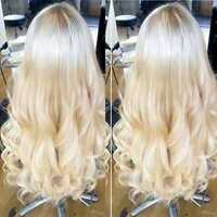 Remy Brazilian Virgin Human Hair Lace Front Wig 613 Platinum Blonde Body Wavy L1