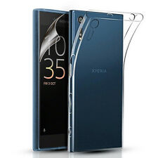 Slim S-Line Gel Case Cover for Sony Xperia XZ + Screen Protector