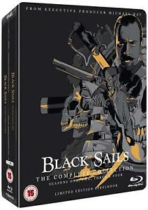 Black Sails Complete Collection Seasons 1, 2, 3 & 4 Blu ray Box Set RB Steelbook