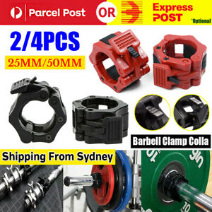 2/4PC 25mm/50mm Barbell Clamp Collar Clip Olympic Weightlifting Lift Spring Lock