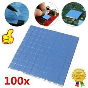 100x100mm x 1mm GPU CPU Heatsink Cooling Thermal Conductive Silicone Blue Pad_AU